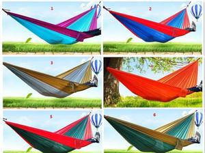 24 colori portatile paracadute di nylon tessuto di campeggio Hammock Per persona del doppio di sicurezza esterna Parachute 270 X 140 centimetri 600g di viaggio Amaca