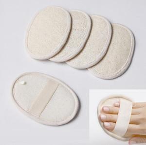 Natural esfoliating loofah pad para corpo loofah scrubber strap banho pele chuveiro loofah esponja escova de limpeza massagem spa remover a pele morta