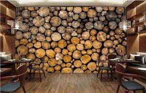 Photo faite sur commande Papier peint Mural Retro Wood Restaurant mur salon de fond en bois mur Papel de Parede 3d