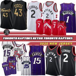 147/5000 Erkekler Toronto Raptors Basketbol Forması 43 Pascal Siakam 1 Tracy McGrady 15 Vince Carter 7 Kyle Lowry 23 Fred VanVleet Basketbol Formaları 19 20 Üst