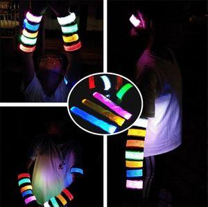 تحذير LED تصميم الأزياء متوهجة الفرقة الذراع ركوب الخيل في الليل سوار مضة من الضوء صفعة المعصم الشريط الاسوره 120PCS T1I1566