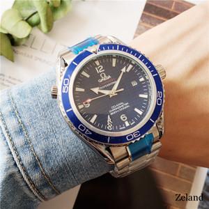 nova qualidade Mar cavalo Mens Relógios Mecânicos 6 cores 43 milímetros homens de aço do Full Sea Luxo Master Business Assista Orologi lusso presente di w