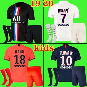 Fußball Trikots Kit 19 20 PSG JORDAN Fußball Trikot 2019 2020 NEYMAR JR Paris saint germain MBAPPE ICARDI MARQUINHOS Trikot Fußball Trikot Shirt Kinder Sets