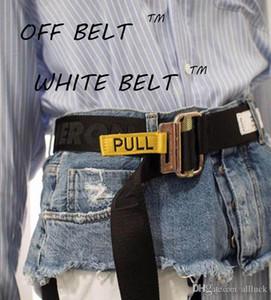 New Super Legit 100% tela di cintura gialla di alta qualità / cinture bianche Mens E Donne ben fatti High Street Raffreddare 120 centimetri Cintura a 200 cm