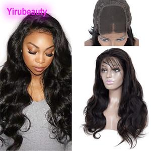 Бразильские волосы девственницы 4x4 кружева закрывают парики натуральный цвет человеческих волос 4x4 кружева закрытие парики 10-32 дюйма тела 4 * 4 закрытие парик