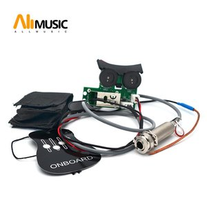 10шт Sound Hole Undersaddle Pickup Эквалайзер с бортовым предусилителем системой для акустической гитары