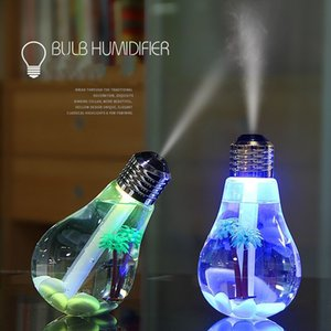 Creative USB home office mute LED second generation colorful bulb humidifier night light humidifier