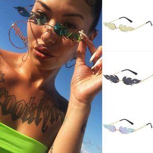 Vente chaude flamme adumbrale lunettes de soleil en métal sans cadre classique hommes et femmes lunettes de soleil lunettes de soleil mode lunettes de soleil pas cher lunettes à rebord étroit