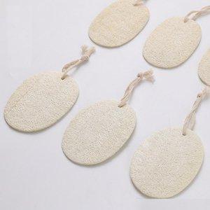 Natural Loofah Dish Brush con cuerdas Loofah Pad Maquillaje de cara Eliminar exfoliante y ducha de baño de piel muerta Loofah al por mayor