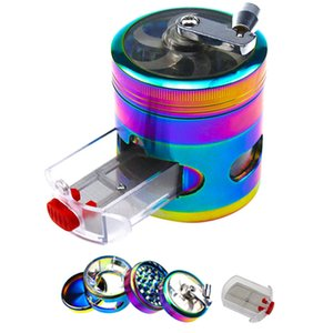 Hand Muller Tobacco Grinder Zinc Alloy 63 MM 4 Layers with Drawer Herb Grinder Spice Herbal Crusher Hookah Pipe VT1393