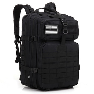 Ordu sırt çantaları taktik çanta runcksacl paketleri 45L saldırı çantaları açık 3 P EDC Molle Trekking piknik koşu oyun kamp avcılık Çanta Için Paketi