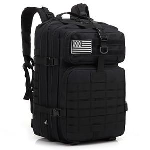 mochilas del ejército bolsa táctica paquetes runcksacl bolsas de asalto 45L al aire libre 3P EDC Molle Pack para senderismo picnic trotar jugar acampar caza bolsa