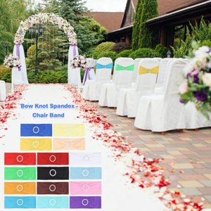 Elastic Organza coprisedie nozze telai della Banda Bow Tie Backs bowknot Spandex Sedie Sash Fibbie copertura posteriore Hostel finiture rosa 16 colori