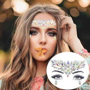 2020 NEW ARRIVAL Face Tattoo Sticker Diamond Sticker Glitter Crystal Tattoo Stickers For Women Face Forehead Paster Wedding Decorations
