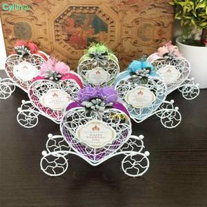 Love Heart Candy Boxes Weddin Favor Romantic Cinderella Carriage Chocolate Boxes Wedding Birthday Party Flower Decor