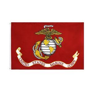 Yeni ABD Deniz Bayrak 35 * 55inch Polyester Bayrak Direği Summer Garden Bayrak Dekorasyon CNE Ücretsiz Kargo