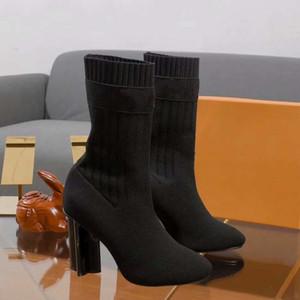 Stivali donna calzino Stivali della scarpa da tennis dei pattini casuali degli addestratori di moda Sport scarpe di cuoio di alta qualità stivali pantofole dei sandali dell'annata con il contenitore 02