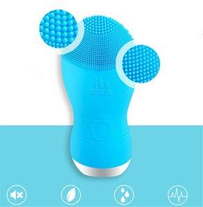 USB recargable Fregadores faciales eléctricos Piel Limpiador de poros facial Sonic cepillo de limpieza Vibración silicona Masaje impermeable para la cara DHL