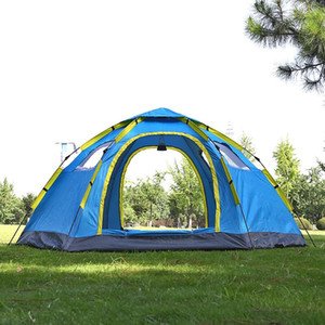 Schnelles automatisches Öffnen Strand-Zelt BeachTents Pop-up-Schutz Wandern Camping Familienzelt für 5-8 Person