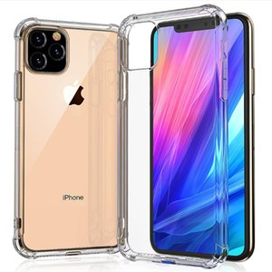 Четкие случаи телефона для iPhone 12 11 XS MAX XR X Plus Примечание 10 Супер Антидетонационные Мягкий ТПУ Прозрачный Protect Cover Case Противоударный