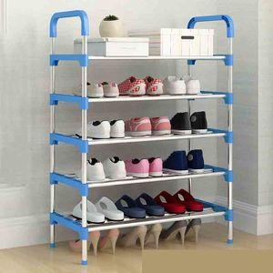 Shoe Rack Shoe Organizer Aluminum Metal Standing Shoe Rack DIY Shoes Storage Shelf Home Organizer Accessories