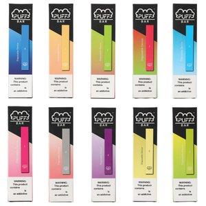2020 Yeni Puff Bar Tek Bakla Elektronik Cigs 1.3ml Kartuş Cihaz 280mAh Pil ile Güvenlik Kodu Vape Kalem boşaltın