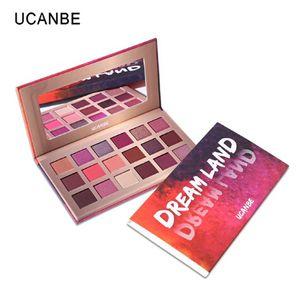 Shimmer Matte Dreamland Eyeshadow Makeup Palette 18 Color Purple Pink Pigment Eye Shadow Waterproof Cosmetic