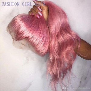 L 360 Lace Front Wig 28 &Quot ;Long Wavy Pink Lace Front Wig For Black Women Natural Hairline Heat Resistant Synthetic Hair Wigs For Wo