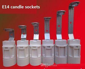 E14 Vis Petites Bougies Supports de Lampe / Base En Cristal Pendentif Ampoules Douilles Avec Fil Accessoires D'éclairage Pièces De Rechange