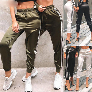 Ladies Pants New Women Fashion Casual Comfy Fitness Pants Running Gym Sport High Waist Jogging Pants Trousers Drop Shipping