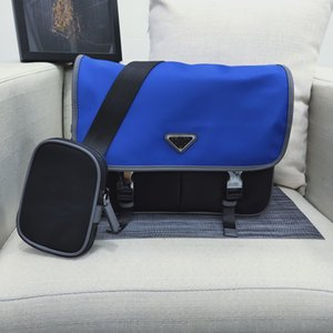 Bolsas Messenger Bag vestido simples Nylon Handbag Mulheres Homens couro genuíno ajustável Alça Voltar Zipper Bag