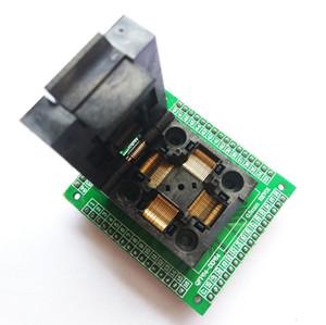 Freeshipping TQFP64 LQFP64 QFP64 soket adaptörü IC çip testi yanan koltuk STM32 QFP64 0.5 m programcı LQFP64 adaptörü