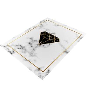 Bereich Teppich Marble Goldene geometrische Linien Marbling Wohnkultur Boden Teppich Teppich MYDING