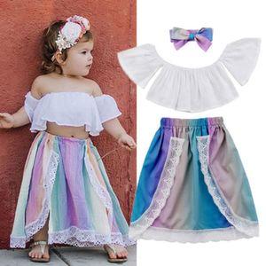 Emmababy Adorable Newborn bambini della neonata spalle Bassiera Gonna Outfits vestiti carini nuova