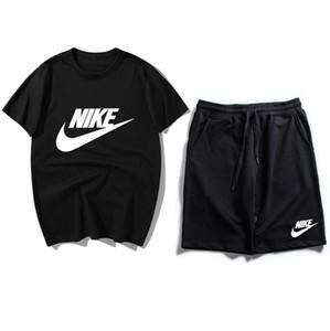 Nuovi arrivi Mens di estate tuta manica corta T-shirt e pantaloncini hoodies casuali di sport sport vestito stabilito Girocollo Sport BNCMDFD maschile 78