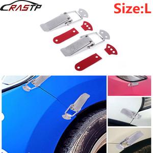 RASTP-Car Stainless Steel Bumper Segurança gancho Kit Bloqueio Clip for Corrida Quick Release Fixadores Auto Acessórios RS-ENL019