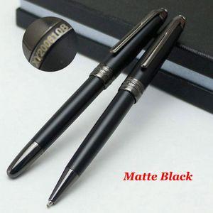 Top qualité MSK-163 noir mat Stylo Rollerball Pen Promotion Bureau de fournitures scolaires avec numéro de série Monte XY2006108