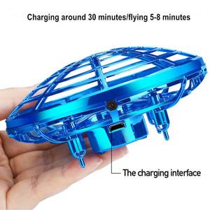 تعمل البسيطة الطائرة بدون طيار اليد UFO الكرة LED أضواء المضادة للتصادم الطائرات لعبة طائرات الهليكوبتر تحلق الكرة لعب الأشعة تحت الحمراء RC المروحيات