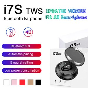 I7 i7 TWS Bluetooth Headphones Twins Earbuds Mini sem fio Fones de ouvido Fone de ouvido com microfone V5.0 Stereo para o telefone Android com pacote de varejo