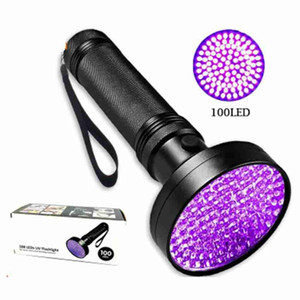 3W الأشعة فوق البنفسجية مصباح يدوي 100 LED ضوء الأشعة فوق البنفسجية الحيوانات الأليفة البول اللطخات العقرب كشف يدوي محمول البنفسج ضوء كاشف المال ZZA2390