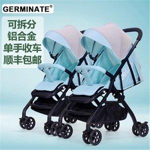 2019 gemelli separabili passeggino seduto sdraiato pieghevole due gemelli seduta del passeggino doppia seduta passeggino