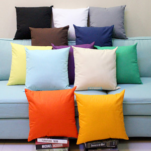 All Sizes Plain Dyed 8 oz Cotton Canvas Throw Pillow Case Solid Colors Blank Home Decor Pillow Cover More Than 100 Colors In Stock