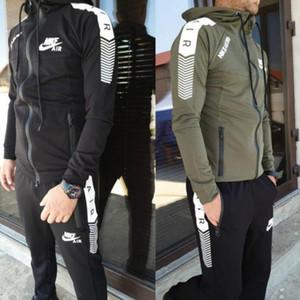 Primavera e Outono novos esportes designer de moda dos homens se adequar esportes da forma duas peças das mulheres terno de alta qualidade