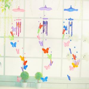 Sıcak satış kelebek rüzgar ahenge süsler yaratıcı ev bahçe dekorasyon zanaat çocuk doğum günü hediyesi kelebekler kolye rüzgar çanları dekorları
