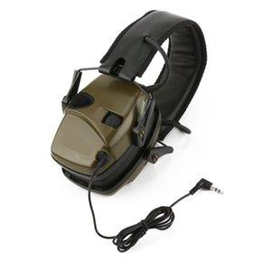 Koruyucu Kulaklık Katlanabilir İşitme Elektronik Atış kulaklık Doğa Sporları Anti-parazit Ses Büyütme Taktik