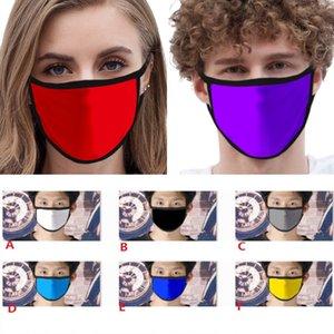 Ice Silk Mask Enfants adultes solide anti-poussière Visage Masque brut respirant Lavable extérieur réutilisable bouche Couverture 10 Styles HH9-3064