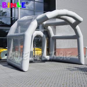 Connevient Outdoor Sealed Air tenda fase gonfiabile con coperchio trasparente tublar sigillato struttura libera podio cupola tetto dell'aria