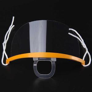 Bocca con sputo Guardia Servizio maschera utilizzata nel Ristorante Hotel trasparente maschera di protezione in plastica per Cook Cameriere / Bar antigelo Mask