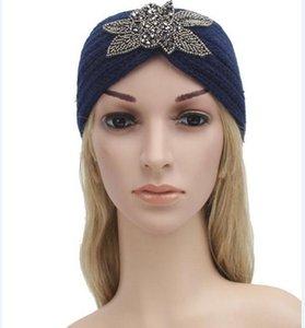 007 Womens Crochet Outono-Inverno Quente Bandas Knitting Headbands Cabelo Hat Moda ampla tiaras de cabelo inverno headwrap
