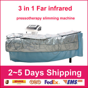 3 in 1 pressione Linfodrenaggio Slimming Fat infrarossi + pressoterapia + EMS Air Pressotherapy dimagrante stimolazione muscolare macchina